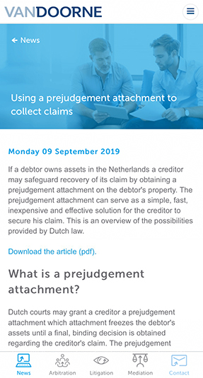 The Dutch Legal Angle app - Scherm 2