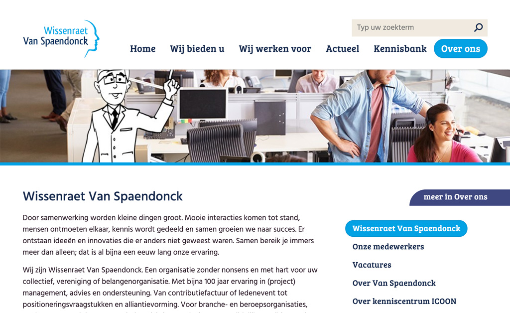 Corporate website - Scherm 1